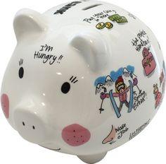 Dit leuke vrolijke spaarvarken maakt sparen leuk! Deze gaat op mijn verlanglijstje