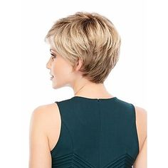 Capless High Quality Short Curly Blonde Synthetic with Side Bang 2449393 2016 – $24.99