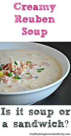 Creamy Reuben Soup  - Low Carb, Gluten Free