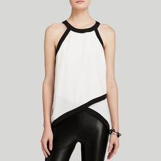 AQUA Top - Tipped Sleeveless Cross Front Women - Tops - Blouses & Shirts - Bloomingdale's New Mode, Style Feminin, Casual Outfits, Cute Outfits, Mode Top, Asymmetrical Tops, Mode Style, Beautiful Outfits, Blouses For Women