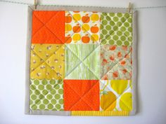 citrus-y potholder (to make with swatches?)