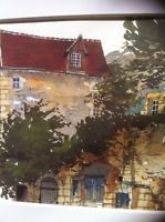 PIERRE DEUX 'S PROVENCAL RETREAT • Watercolor Print Country French • FRANCE