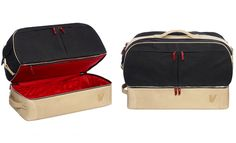 Steven Alan x Virgin Australia 'Perfect Bag' in navy waxed canvas with white leather. $795