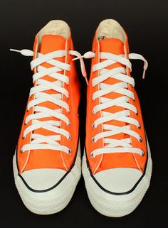 bd9e4d7b0507 ViNtAgE Orange CONVERSE Chuck Taylor Hi Top Shoes Made in USA Mens 7 1 2 7.5