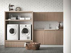 Waschküche-Schrank aus Ulme für Waschmaschine IDROBOX Kollektion Idrobox by Birex