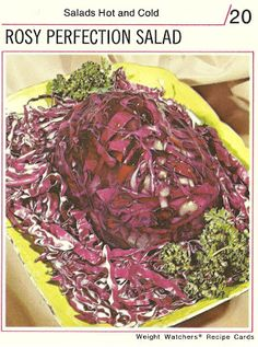 Rosy Perfection Salad  (Weight Watchers Recipe Cards, 1974)