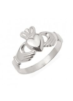 Simple and sweet. claddagh-ring. Got mine in gold from Thomas Dillion!!!