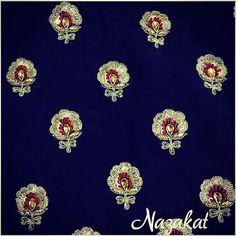 #nazakatboutique #nazakat Hand Work Embroidery, Embroidery Motifs, Indian Embroidery, Gold Embroidery, Machine Embroidery, Embroidery Designs, Hand Work Design, Cotton Lawn Fabric, Maggam Work Designs
