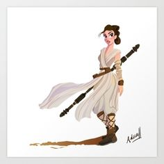 Buy Rey Art Print by aduahc. Worldwide shipping available at Society6.com. Just one of millions of high quality products available.
