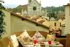 This beautiful apartment in Florence (Tuscany) has an amazing view from its terrace, imagine staying here for a short time - or a long time...if you want to make this dream come true, check the website, add a cooking class, a wine tour or something from your bucket list...