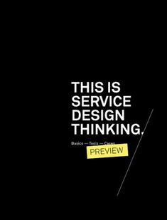 This is Service Design Thinking (PREVIEW)