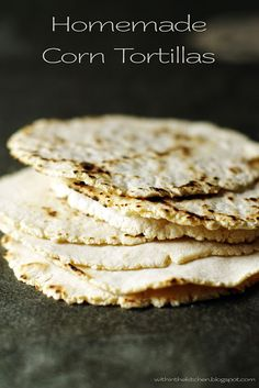 Homemade Corn Tortillas - Vegan  Want to get closer and closer to ONLY real food these would be great