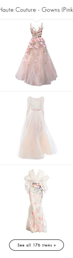 """""""Haute Couture - Gowns (Pink)"""" by giovanna1995 ❤ liked on Polyvore featuring yellow, Pink, purple, gown, hautecouture, dresses, gowns, satinee, elie saab and elie saab dresses"""