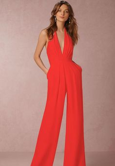 d1302199301 2017 New Hot Long Black Red White Rompers Womens Jumpsuit Summer Autumn  Party Hang Neck Deep