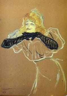 Анри де Тулуз-Лотрек. Певица Иветт Гильбер. 1894..