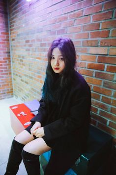 Jo Eun Hee by Jung Jaehwa // look at her not giving a crap what other people think, sitting with her rainbow hair without bleach YOU GO GIRL