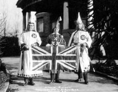 This is a picture that shows a discrimination group back then known as KKK (Ku Klux Klan). This group promoted discrimination and racism against may racial minorities such as Black Canadians. Black Canadians, Ku Klux Klan, Canadian History, France, Anglo Saxon, Roaring 20s, American Civil War, Roman Catholic, Northern Ireland