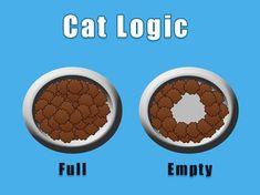 La logique des chats: à gauche, plein; à droite,vide...