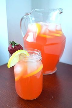Twisted Strawberry Lemonade:  What's better for the body and soul on a hot summer day than lemonade? Strawberry Lemonade. With vodka.