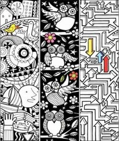 Free COLORING and DOODLING PRINTABLES~ Great children's activities for kids who love to color. Check out these bookmarks, and lots more! Colouring Pages, Free Coloring, Adult Coloring Pages, Coloring Sheets, Coloring Books, Library Activities, Craft Activities, Pages Doodle, Doodle Books