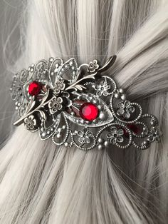 Silver Hair Clips For Women  Silver Hair Clip by ArcanumByAerrowae