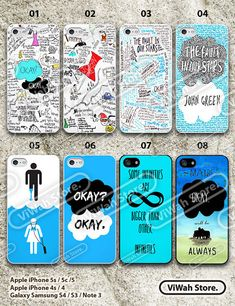 The Fault in Our Stars iPhone 5 Case, iPhone 5C Case, iPhone 5S Case, iPhone 4 Case, iPhone 4s Case John Green Hard Case or Rubber Case on Etsy, $3.99