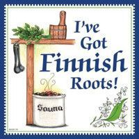 """This charming high quality tile magnetic decorative tile captures the essence of Finnish culture. It features the saying """"I've Got Finnish Roots """" Hard To Be Humble, Bavarian Recipes, Finnish Recipes, Finnish Language, Metal Hangers, Ceramic Coffee Cups, Decorative Tile, Wall Plaques, Gifts For Family"""