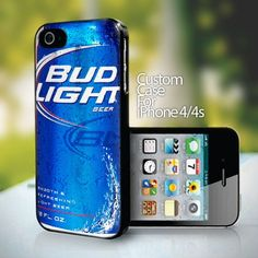 Bud Light Can - design for iPhone 4 or 4s case