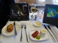 First Class Flights, British Airways, Grubs, Catering, Snacks, Meals, Airplane, Tableware, Elegant