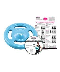 This innovative fusion disc system invigorates your workout routine by combining muscle conditioning, cardio and core maintenance in a series of activities.