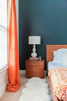 A Vibrant, Sophisticated Home in Fayetteville, NC | Design*Sponge    Benjamin Moore : Soot