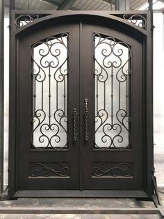 Iron Gate Design, Wrought Iron Doors, Front Entrances, Entry Doors, Beautiful, Ideas, Iron Doors, Portal, Wrought Iron Gates