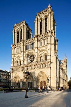 Notre Dame de Paris is a Gothic, Catholic cathedral