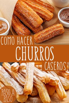 How to make homemade ¿Cómo Hacer CHURROS Caseros? Learn how to make homemade churros in very few steps very easily and quickly. This recipe is explained in detail and you will have fun preparing it. This delicious churros recipe - Easy Baking Recipes, Donut Recipes, Snack Recipes, Dessert Recipes, Cooking Recipes, Snacks, Desserts, Authentic Mexican Recipes, Mexican Food Recipes