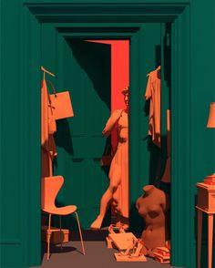 "Venus Mansion – Surreal Visual Scenes by Lee Sol After completing his Bachelor's degree of Interior Design at the Hansung University, Lee Sol has been in the process of expressing his own world of visual scenes. In He began his art project named ""Ven Design Set, Web Design, Michelangelo, Renaissance Kunst, Magazin Design, Arte Popular, Grafik Design, Art Plastique, Art Direction"