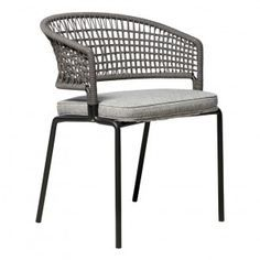 Organic Gardening Supplies Needed For Newbies Frame: Powder Coated Stainless Steel. Back: Woven Polyolefin Fiber. Bistro Chairs, Outdoor Dining Chairs, Outdoor Seating, Outdoor Decor, Commercial Office Furniture, Modern Outdoor Furniture, Rattan Furniture, Furniture Design, Interior