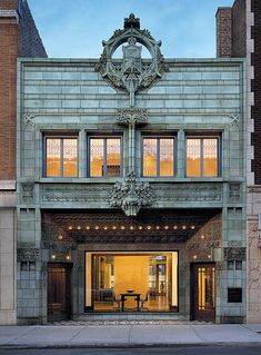 The Krause Music Store, the last commission by Louis Sullivan. Designed in 1922. If you're in Chicago, don't miss Louis Sullivan's Idea at the Chicago Cultural Center. If a book is more your style, check out Sullivan's City.