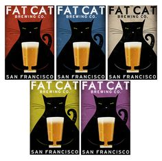 MADE to ORDER Fat Cat Brewing Company Black Cat by nativevermont, $38.00