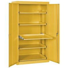 Sandusky 2 Door Storage Cabinet Finish: Yellow