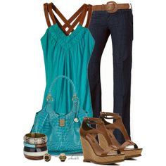 A fashion look from April 2013 featuring Akiko tops, 7 For All Mankind sandals and Brahmin shoulder bags. Browse and shop related looks.