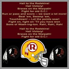 Hail to the Redskins Song! Redskins Football, Redskins Fans, Football Team, Nfc East Division, Nfl Fantasy, Robert Griffin Iii, Fedex Field, Fight Song, Football Conference