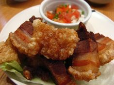 The bagnet recipe that comes from the north of the Philippines is truly delicious and unique. The first time I tried it, I thought that it will be just like the typical lechon kawali I've always had but then I realized that I was wrong. The bagnet. Pork Loin Roast Recipe Oven, Boneless Pork Loin Roast, Roast Recipes, Gourmet Recipes, Vegetarian Recipes, Healthy Recipes, Filipino Dishes, Filipino Recipes, Asian Recipes