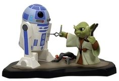 Star Wars Animated Yoda  R2D2 Maquette SDCC Exclusive Toy -- To view further for this item, visit the image link.