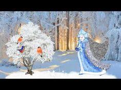 Футаж Снегурка хоть и снежная, но сердцем очень нежная HD