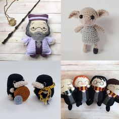 harry potter patterns - DIY - crafts and stuff harry potter patterns harry potter patterns Harry Potter Crochet, Harry Potter Dolls, Harry Potter Decor, Harry Potter Characters, Easy Crochet Patterns, Amigurumi Patterns, Knitting Patterns, Crochet Ideas, Knitting Projects
