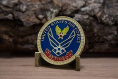 Air Force Retired Challenge Coin http://www.coindisplays.com/shop/air-force-retired-challenge-coin