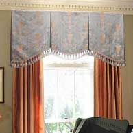 Shaped Valance on a Board