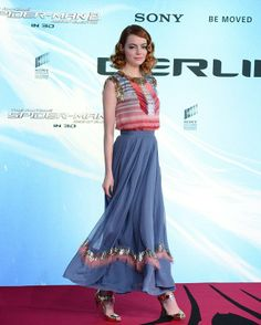 Emma Stone in Chanel Pre-Fall 2014, Worn at The Amazing Spider-Man 2: Rise Of Electro Berlin Premiere