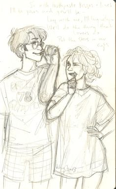 i totally forgot about this sketch til now but here ya go, have some Lily and James inspired by this song <3