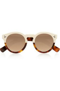Leonard II round-frame acetate mirrored sunglasses #mirroredsunglasses #sunny #covetme #illesteva